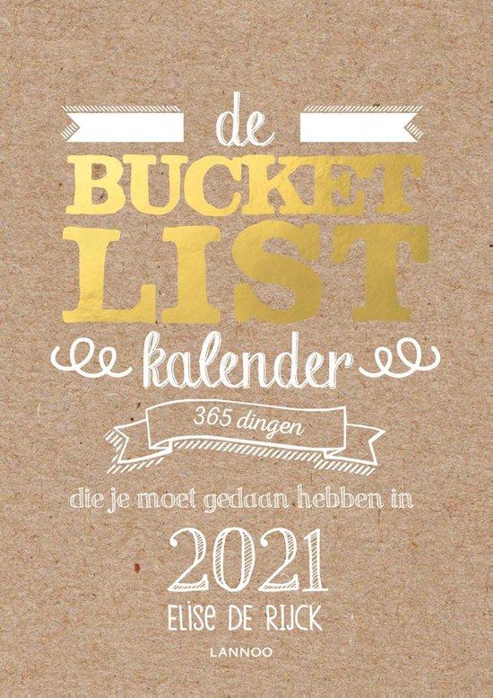 Boek cover Bucketlist  -   De Bucketlist scheurkalender 2021 van Elise de Rijck (Hardcover)