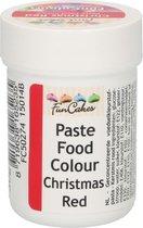 FunCakes Eetbare Kleurstof Pasta Kerst Rood 30g