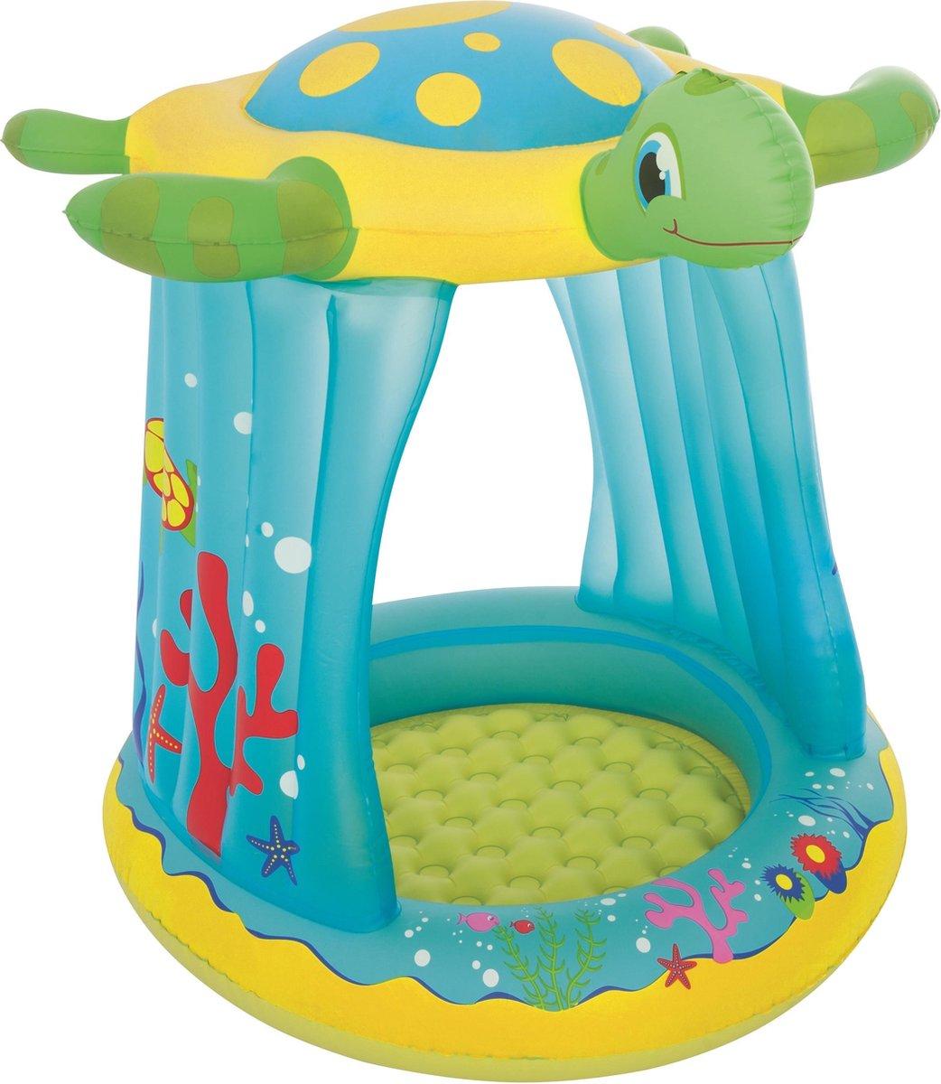 Bestway Babyzwembad Schildpad UV beschermend 109 x 96 x 104 cm - Kinderzwembad