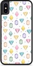 iPhone Xs Hardcase hoesje Diamonds