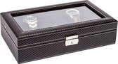 LA ROYALE Horlogebox Classico 12 Carbon - Zwart - 12 horloges