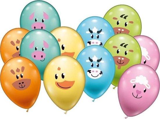 12x Dieren ballonnen 28 cm - Feestversiering/decoratie