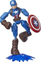 Captain America -  Marvel Avengers Bend And Flex - Speelfiguur 15cm