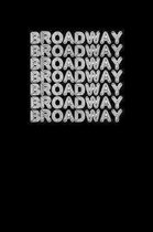 Broadway: Unique Acting Notebook 6''x9'' Notepad Actors Statist Drama Lovers