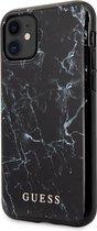 GUESS Marmeren Design Backcover Hoesje iPhone 11 - Zwart