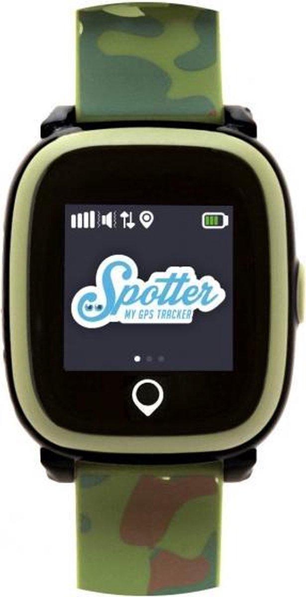 Spotter GPS Tracker Horloge - Kinderen/Ouderen/Alzheimer/dementie/huisdieren - Army Green