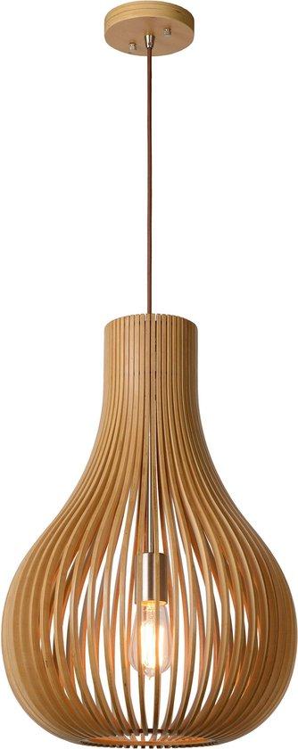 Lucide BODO - Hanglamp - Ø 38 cm - 1xE27 - Licht hout