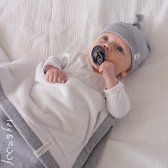 Wieg deken baby   Baby deken   Wikkeldoek   Marine Blauw Streep   Ivy and Soof