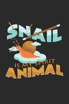 Snail is my spirit animal: 6x9 Snail - dotgrid - dot grid paper - notebook - notes