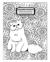 Composition Notebook: Cute Coloring Composition Notebook for the Doodler in Class and Cat Lovers 8 x 10 110 Pages College Ruled