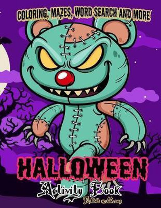 Halloween Activity book: A Fun Kid Workbook Game For Learning, Coloring, Mazes, Word Search and More !