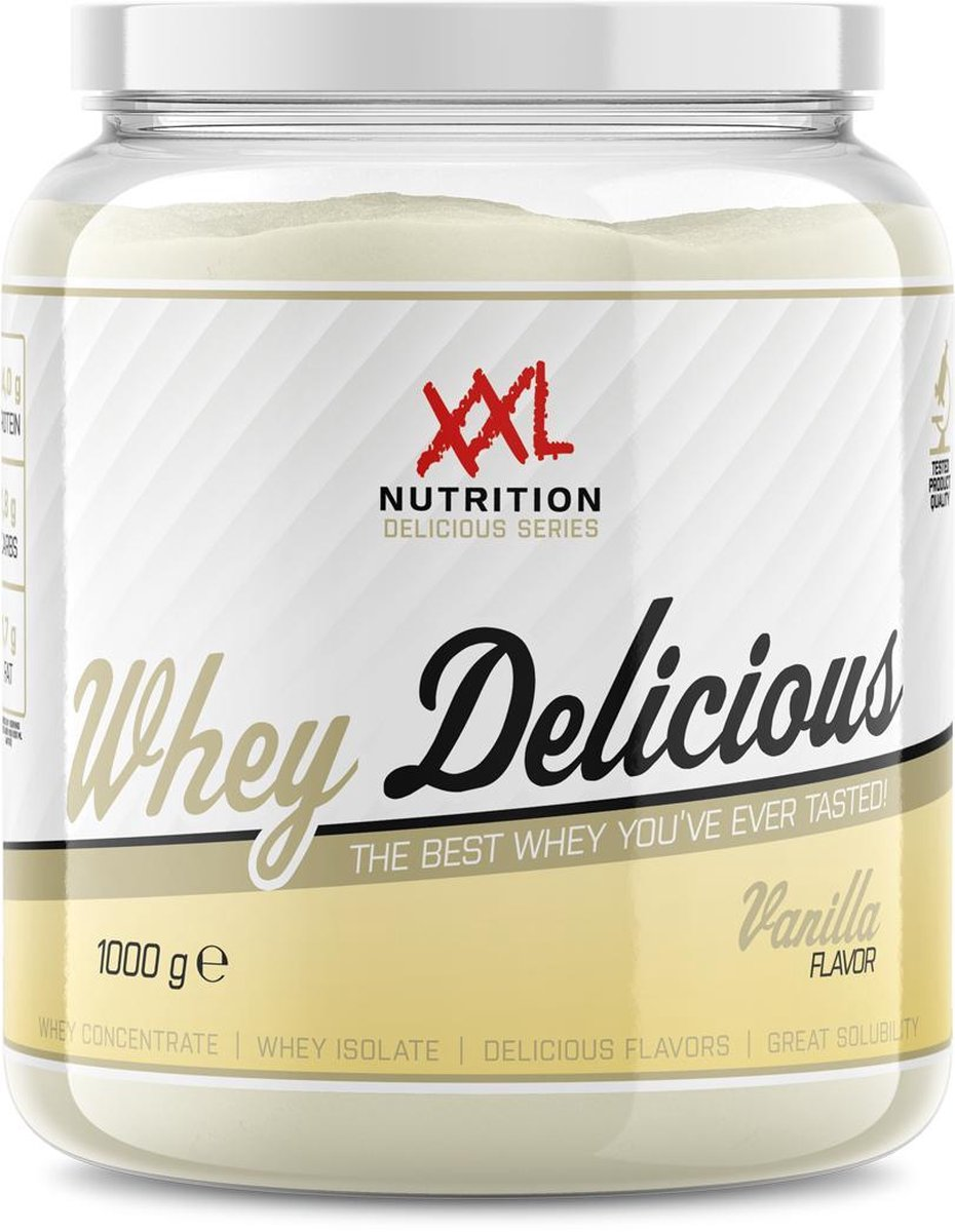XXL Nutrition Whey Delicious Eiwitshake - 1000 gram - Vanille