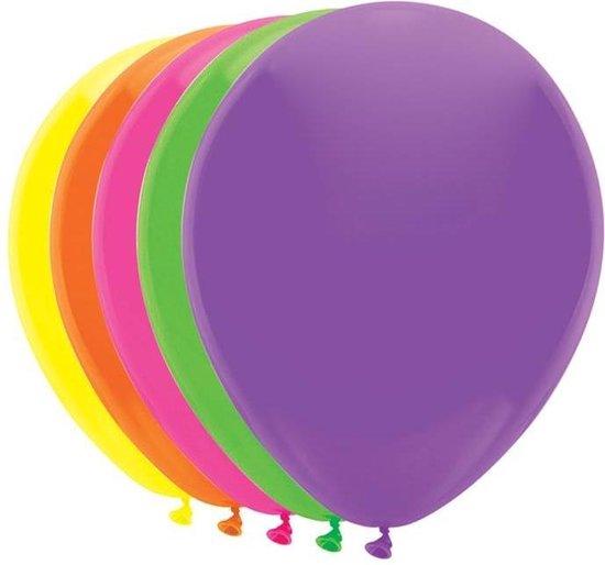 Haza Original Ballonnen Neon 25 Cm Latex 10 Stuks