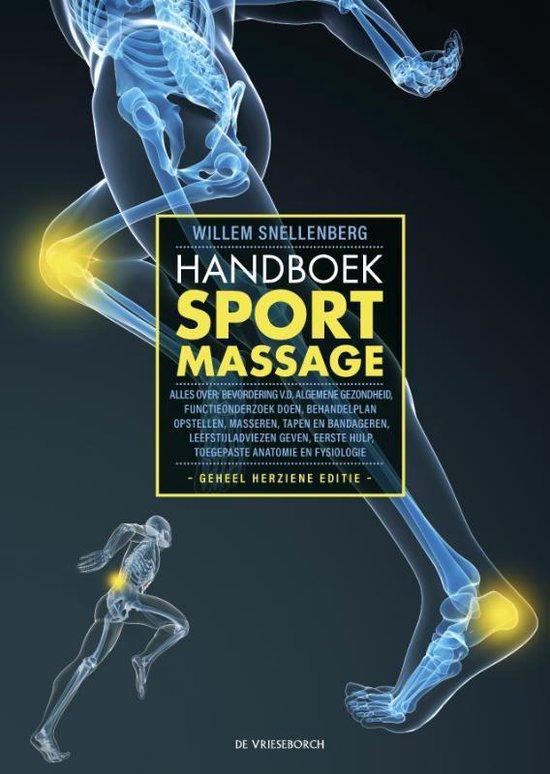 Boek cover Handboek Sportmassage van W. Snellenberg (Hardcover)