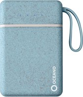 SBS Oceano Eco-friendly Powerbank 2x USB, 10.000 mAh, hellblau