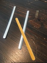 100x Aluminium neusclip- neusbrug - neusbeugel -met plakstrip  -Geproduceerd in Nederland- neus ijzertje - strip-neusklemmetje voor mondkapje met plakrand voor het doe het zelf mondkapje per 100 stuks. Neusclip voor mondmaskers.