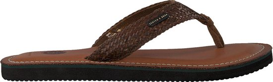 Scotch & Soda Heren Slippers Cadelli - Bruin - Maat 46