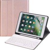 YONO iPad 2019 Hoes met Toetsenbord – 10.2 inch – Qwerty Keyboard Case – Rose Gold