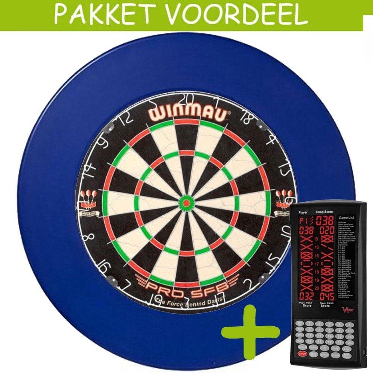 Elektronisch Dart Scorebord VoordeelPakket (Viper ) - Blade 5 - Rubberen Surround (Blauw)