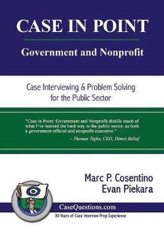 Boek cover Case in Point: Government and Nonprofit van Evan Piekara (Paperback)
