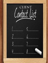 Client Contact List: Smart Alphabetical Client Tracker- Professional Business To do list Book for Hair Stylist, Therapist & Nails Stylist-