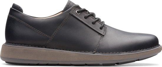 Clarks - Herenschoenen - Un LarvikLace2 - G - black leather - maat 8,5
