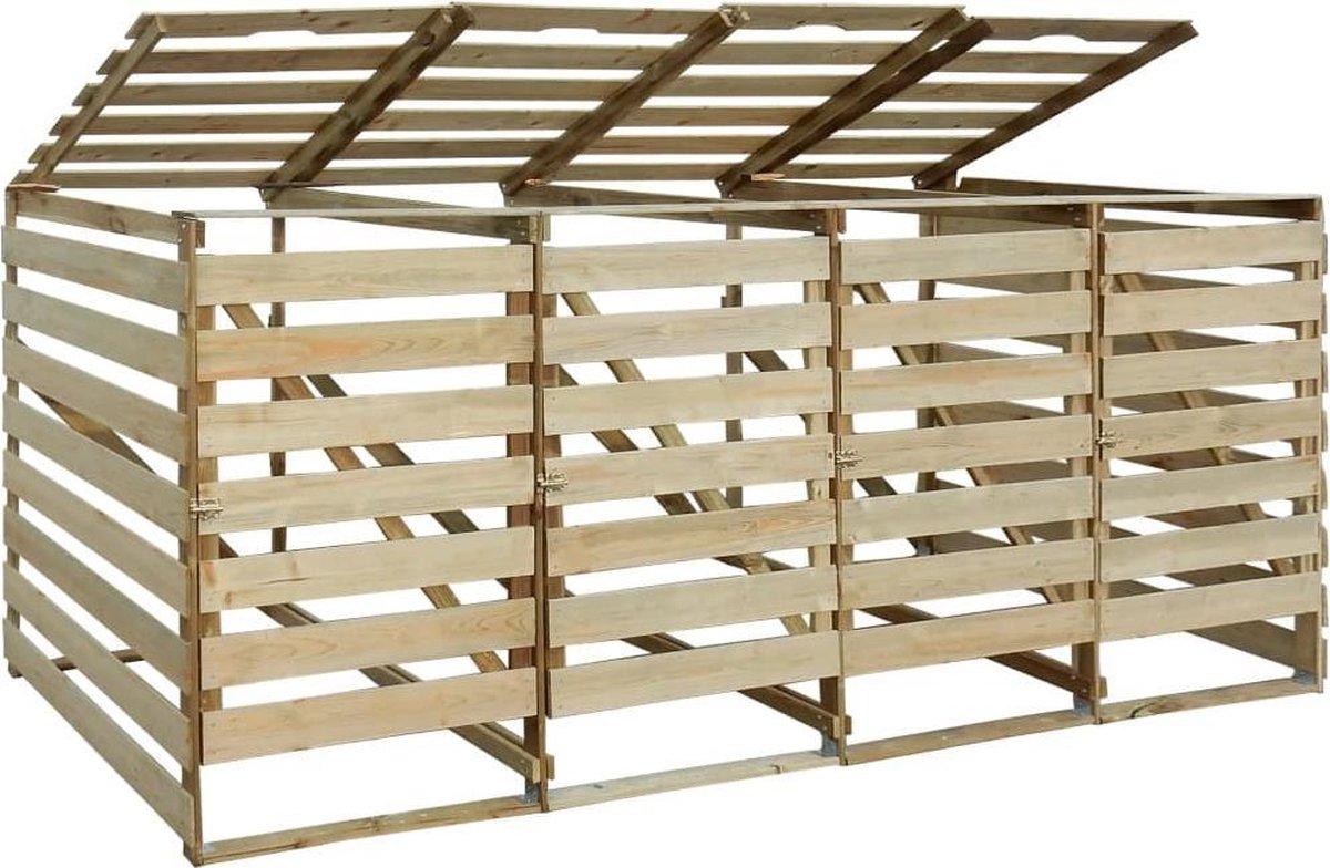 VidaXL Containerberging vierdubbel 240 L geïmpregneerd grenenhout online kopen