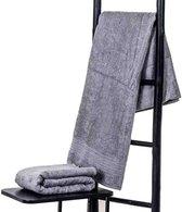 Bamboe sauna handdoek XXL grijs 200x90cm