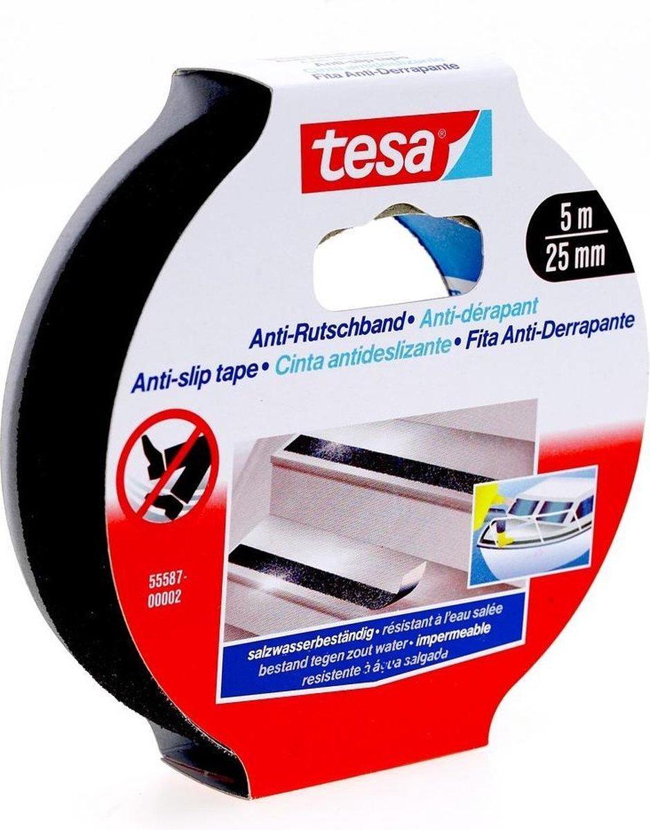 Tesa 55587-02 Anti-slip Tape - 5M x 25MM - Zwart