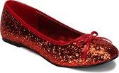 Rode ballerina schoenen met glitters 41