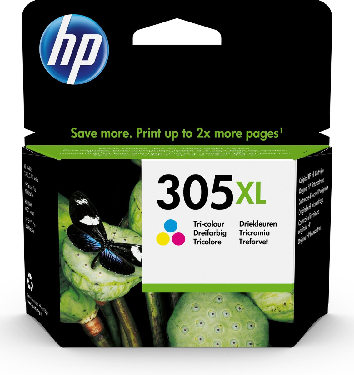 HP 305XL High Yield Tri-color Original Ink Cartridge - Drie kleuren