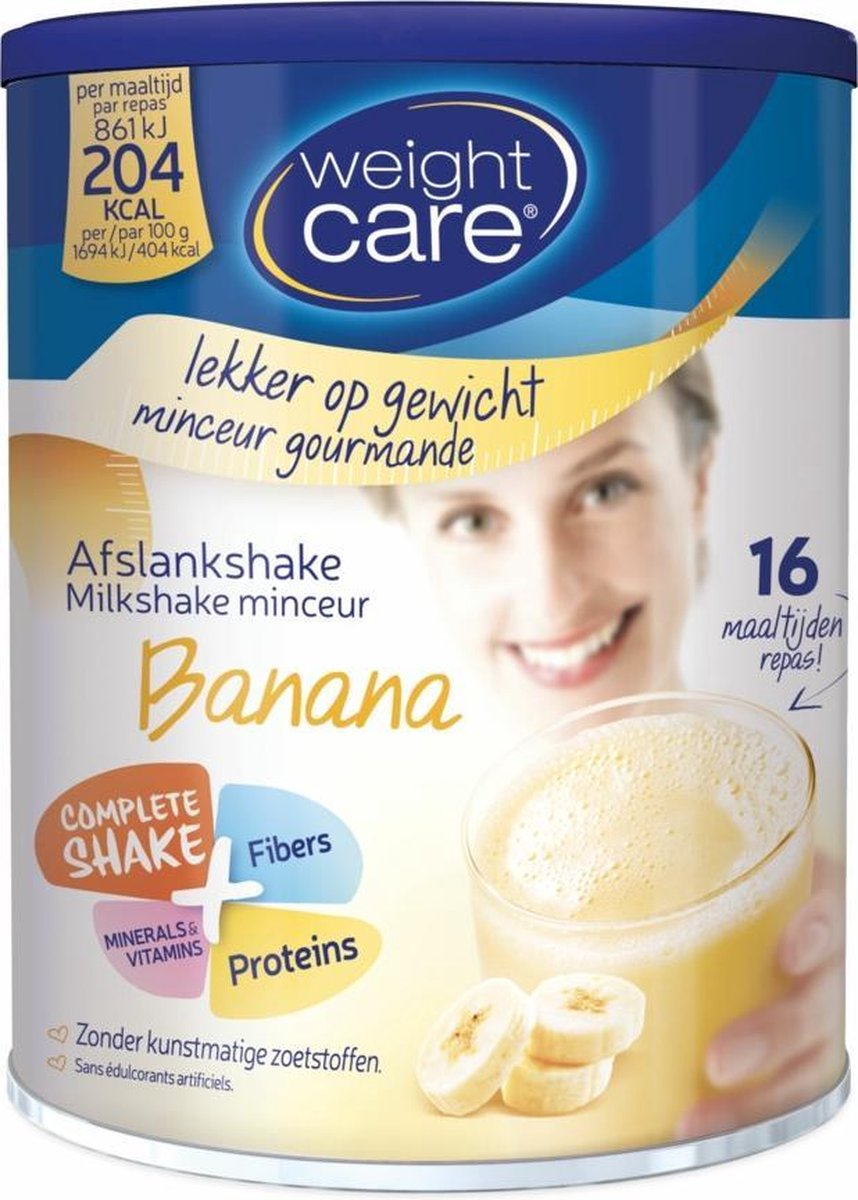 Weight Care Milkshake Drinkmaaltijd - Banaan - 436 gram - 16 maaltijden