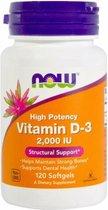 Now Foods - Vitamine D3 2,000 IU - 120 Softgels