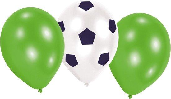 Amscan Ballonnen Voetbal 22,8 Cm Latex Groen 6 Stuks
