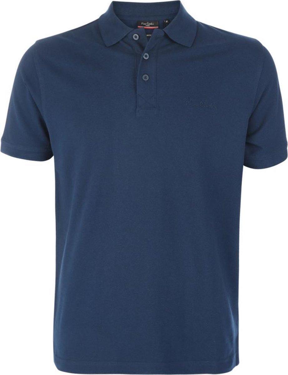 Pierre Cardin - Heren Polo SS Basic Polo - Blauw - Maat XL