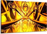 Canvas schilderij Abstract   Geel, Goud, Bruin   140x90cm 1Luik