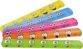 Klaparmband Smiley - Rood - 6 verschillende kleuren