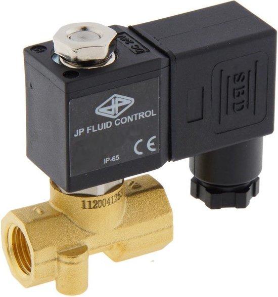 Magneetventiel CM-DA 1/4'' compact messing FKM 0-10bar 12V DC - CM-DA014B020F-012DC