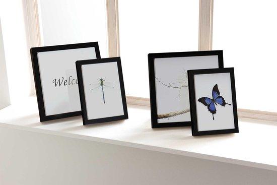 Fotolijsten set 10-delig - strak zwart - fotoformaat 4x 10x15 3x 13x18 2x 20x20 1x 20x25
