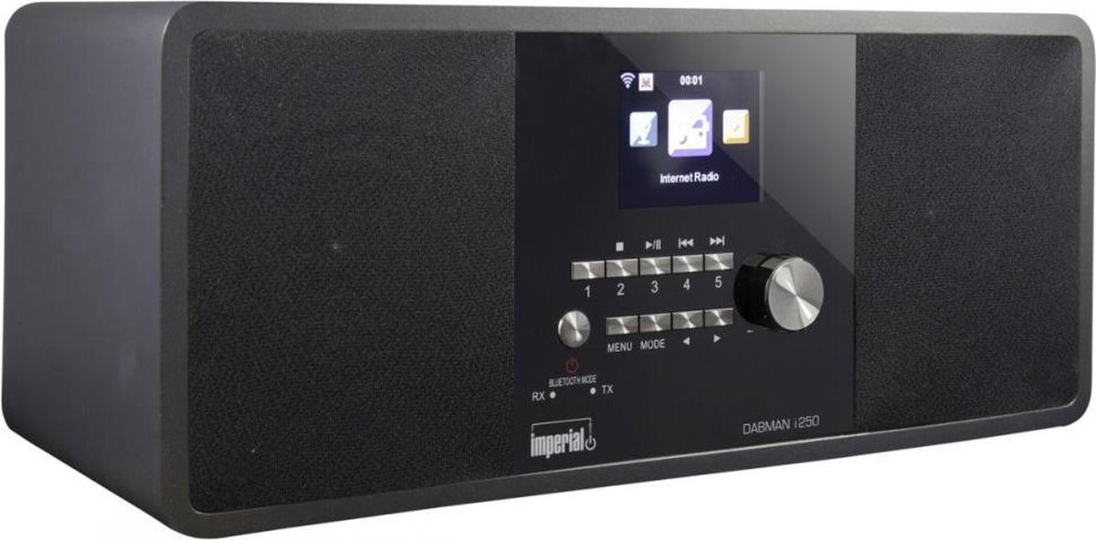 Imperial DABMAN i250 Tafelradio met internetradio DAB+, FM AUX, Bluetooth, USB, WiFi, Internetradio Zwart