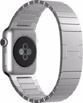 Apple watch stalen schakel band - zilver - 42mm en 44mm
