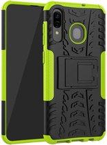 Samsung Galaxy A30 hoes - Schokbestendige Back Cover - Groen
