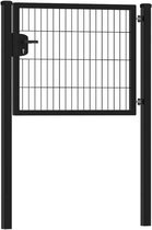 Dubbelstaafmat Hekwerk poort enkel |  premium 100 cm breed | 80  cm hoog
