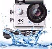 H9 4K Ultra HD1080P 12MP 2 inch LCD-scherm WiFi-sportcamera, 170 graden groothoeklens, 30 m waterdicht (wit)