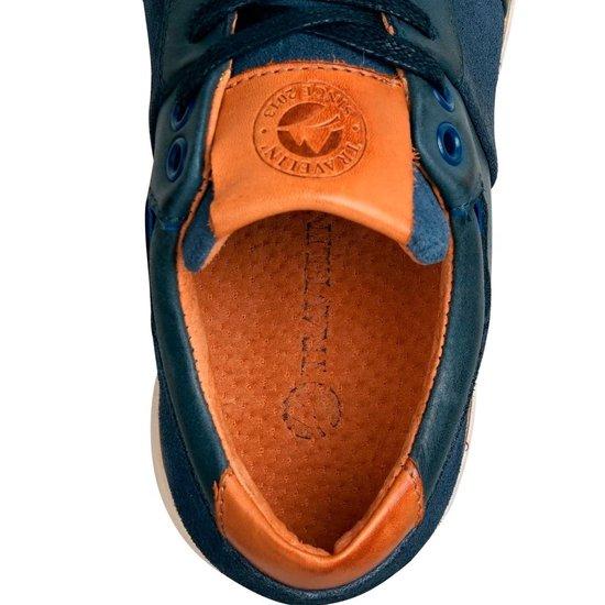 Travelin Selsey Lady - Leren Dames Sneakers Blauw Maat 37 xgEeNH
