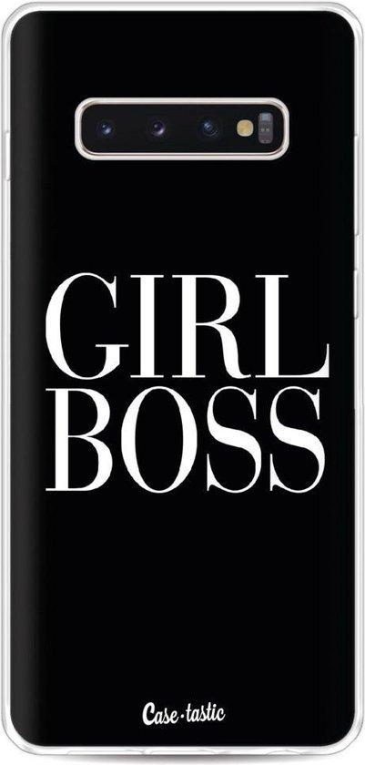 Casetastic Samsung Galaxy S10 Plus Hoesje - Softcover Hoesje met Design - Girl Boss Print