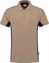 Tricorp Poloshirt Bi-Color - Workwear - 202002 - Khaki-Zwart - maat XS