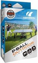 Cornilleau Tafeltennis Ballen P-Ball Outdoor Ultradurable Witte - box van 6 ballen - Wit