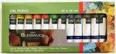 Oil Paint - Olieverf - 12 x 12 ml - 12 Kleuren - Schilderen - Hobby verf + Rheme Liniaal