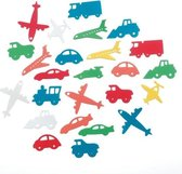 Foamies stickers 60 pcs. planes trains cars